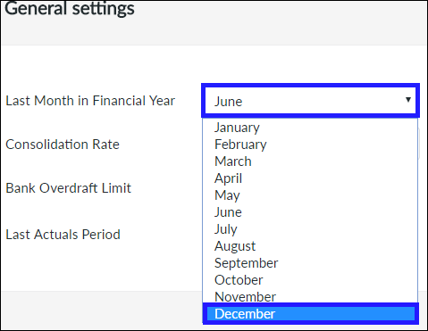 Last Month in Financial Year