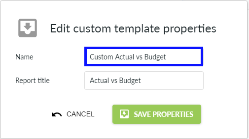 Default custom template name