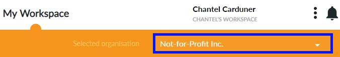 Select organisation to edit