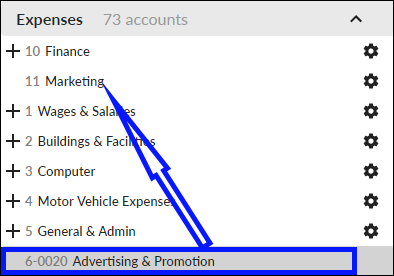 Allocate detail accounts to headers