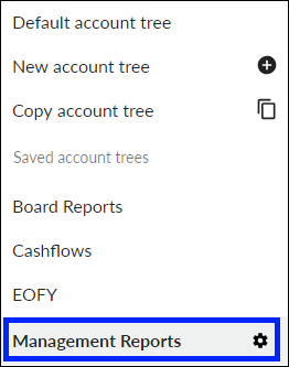 Select account tree to edit