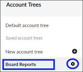 Select account tree to delete