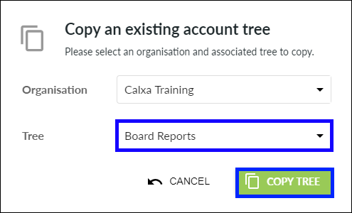Select tree to copy