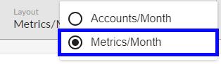 Select Metrics per Month