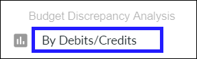 Run report by debits/credits instead