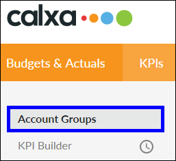 Click on Account Groups menu