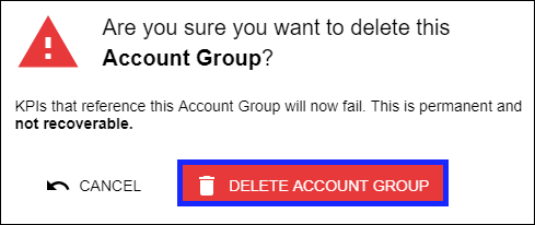 Confirm Delete Account Group