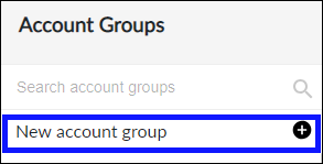 Create new Account Group