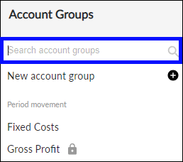 Search Account Groups