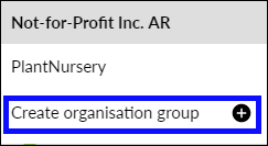 Click Create organisation group