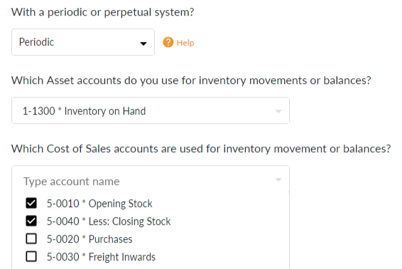 Periodic account selection