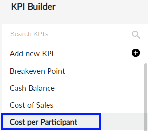 Select KPI to copy or delete