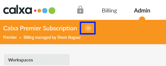Subscription selector