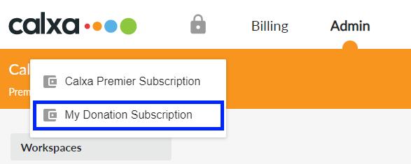 Subscription dropdown