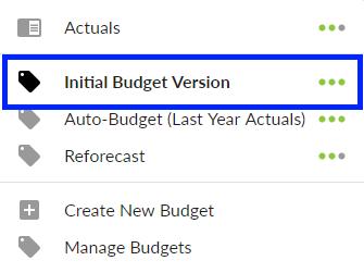 Budget selector