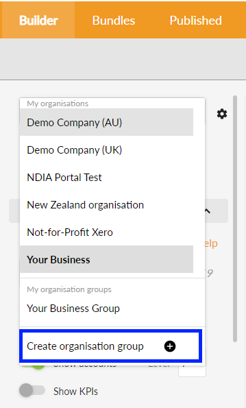 Create organisation group