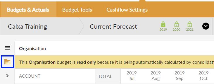 Overall budget selector