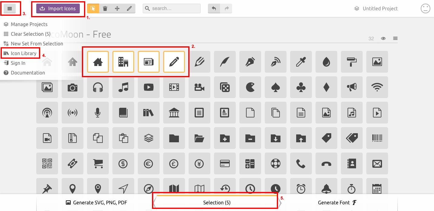 How To Use The Icon Font Manager Vamtam Icons And Add New Icons