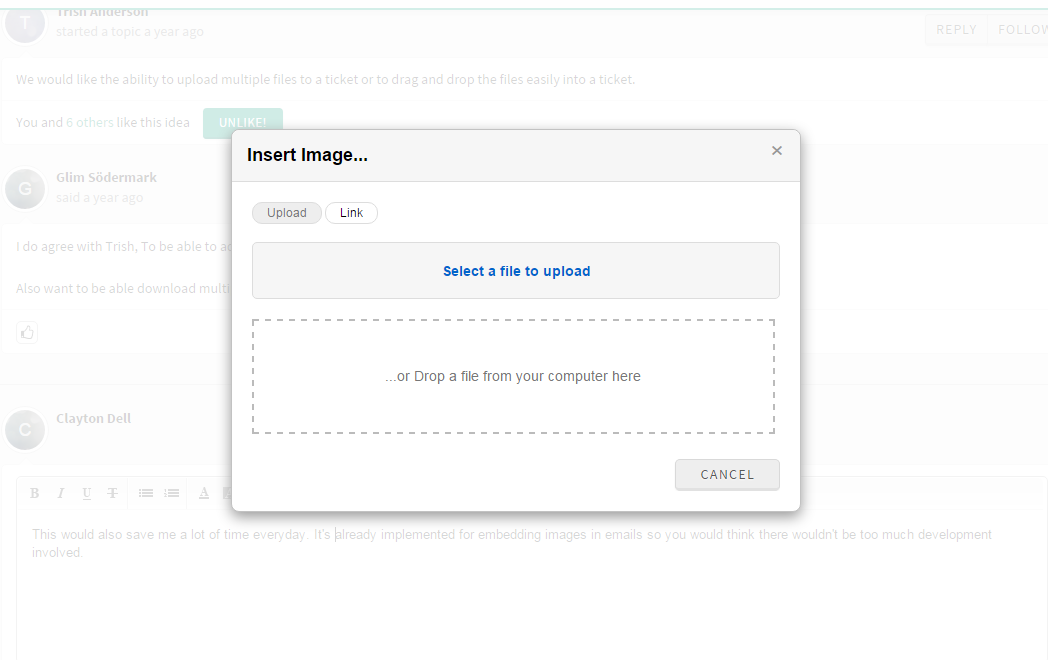 Attach Multiple Files or Drag & Drop files to a ticket : Freshdesk