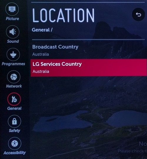 Changing Lg Service Country Region On Lg Tv Webos My Private Network