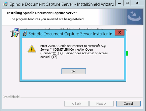 KBA-02-03-007 - Error 27502 could not connect to Microsoft
