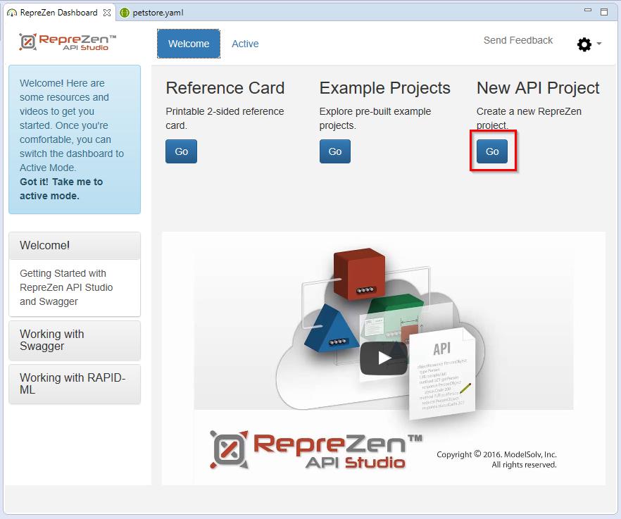 Importing a YAML Swagger Spec into API Studio : RepreZen
