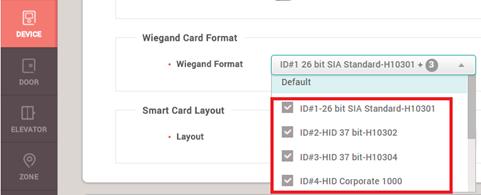 BioStar 2] Multiple Wiegand Format / Wiegand Input