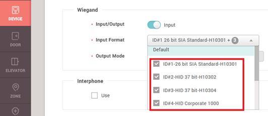 BioStar 2] Multiple Wiegand Format / Wiegand Input Configuration
