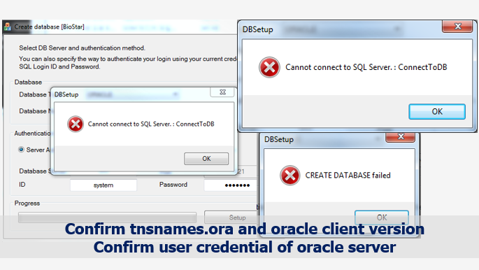 BioStar 1] Troubleshooting Oracle Connection Issue of