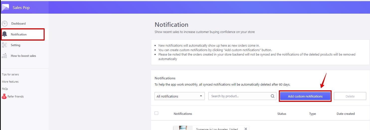Sales Pop - add custom notifications