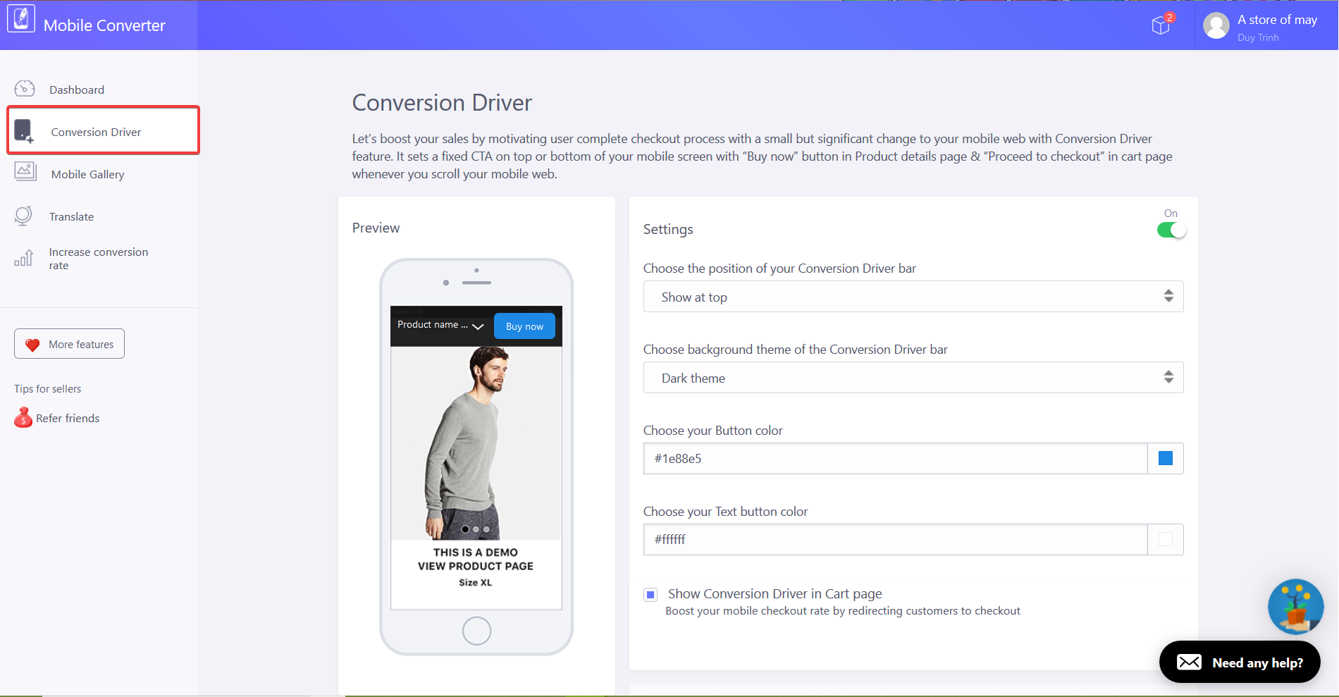 Conversion Driver
