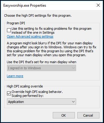 PowerPoints Display Output Skewed : EasyWorship