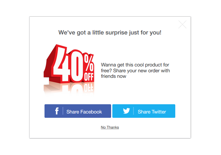Checkout Boost - Share To Get