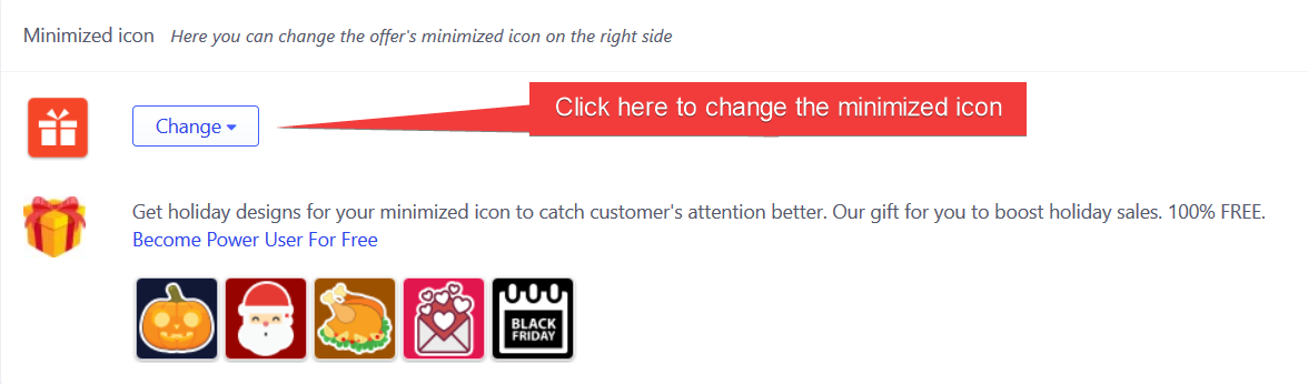 Checkout Boost - Change minimized icon