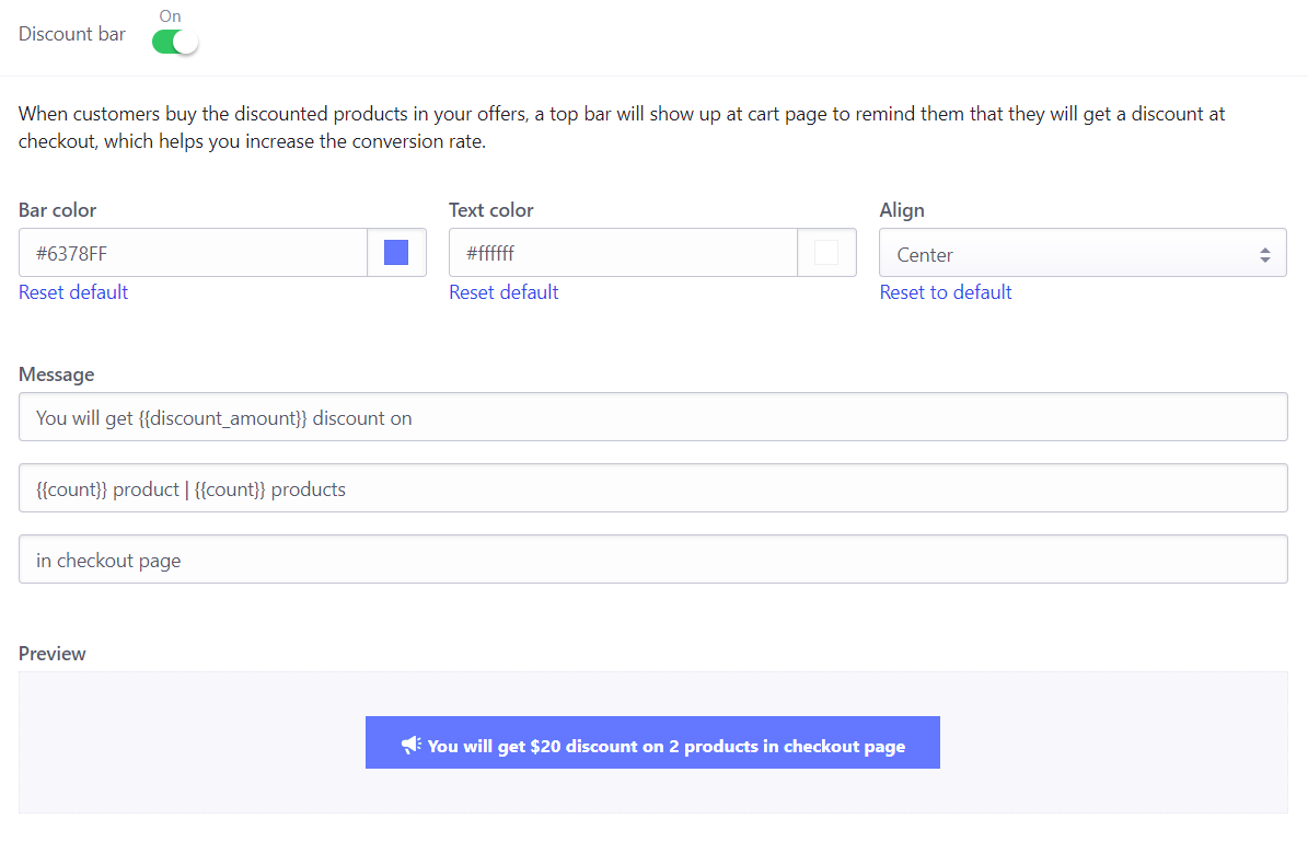 Checkout Boost - Discount Bar