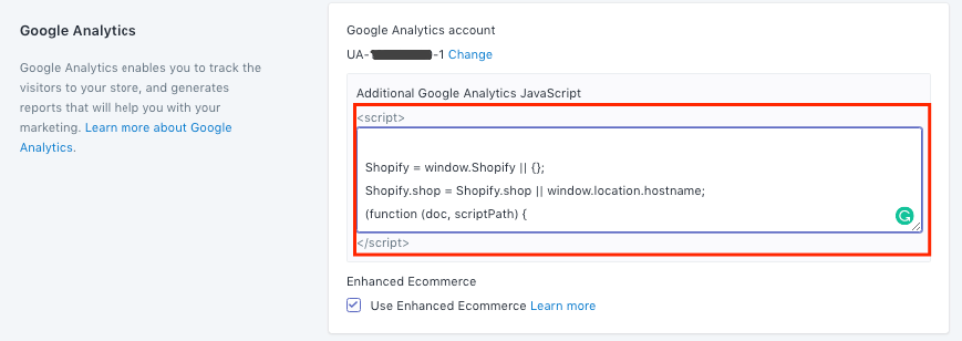 Add additional Google Analytics JavaScript