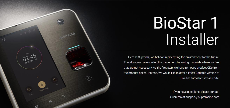 BioStar 1] BioStar 1 93 Download Link : Technical Support
