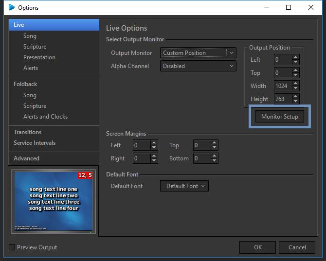 Dual Monitor Setup : EasyWorship