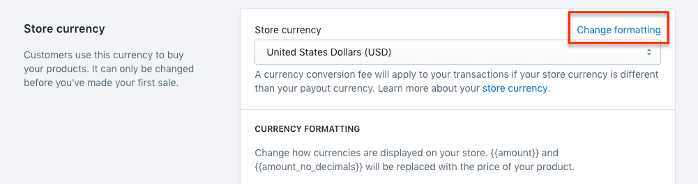 How to edit Shopify store currency format? : Beeketing