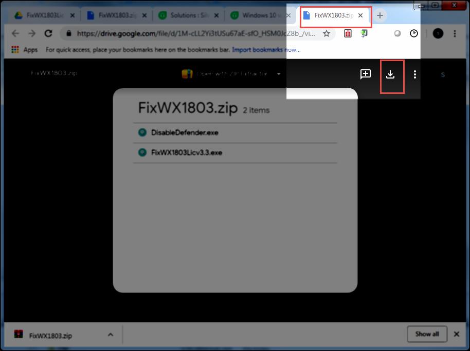 windows 10 activator zip password