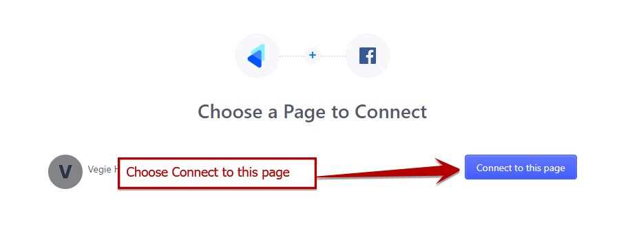 Quick Facebook Chat - Choose Page to connect