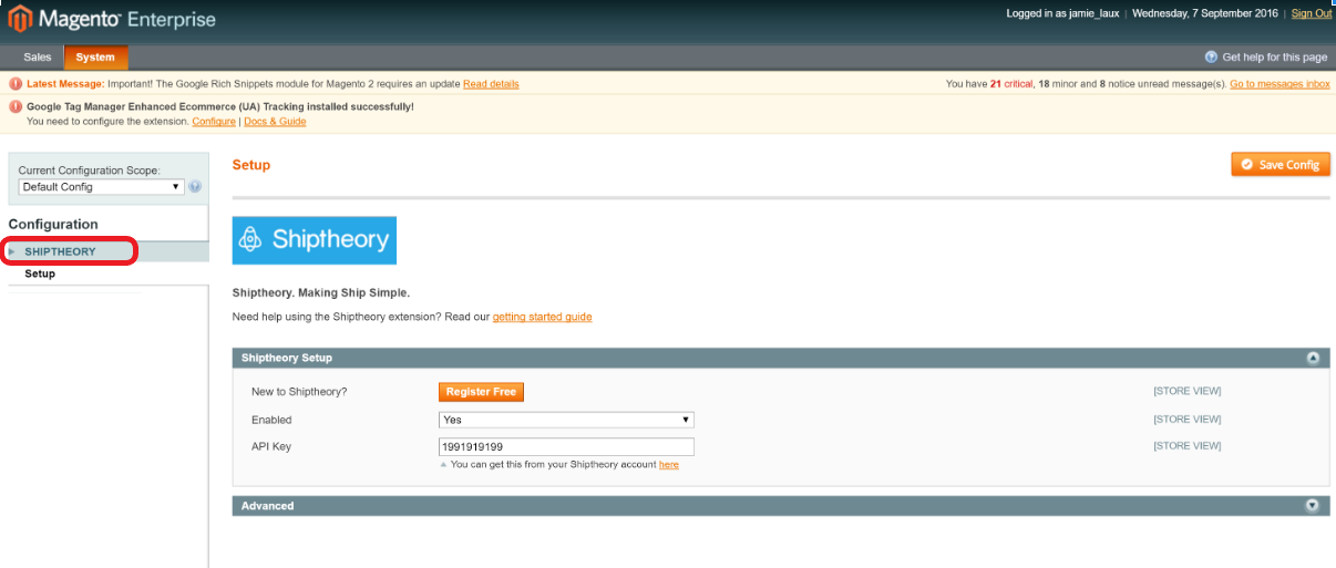 How to integrate with Magento : Shiptheory Support