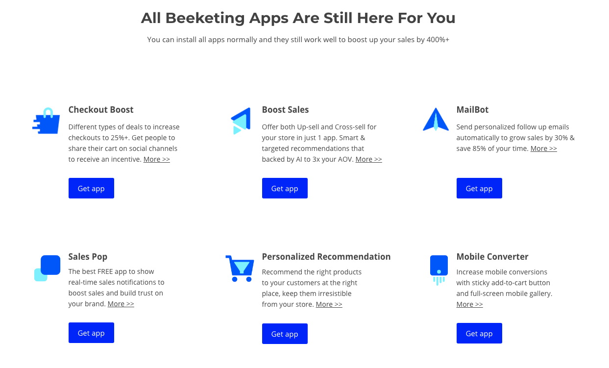 Can't find Beeketing apps in Shopify App Store? : Beeketing