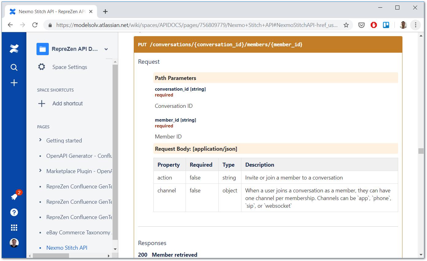 RepreZen API Docs for Confluence [Beta] : RepreZen API