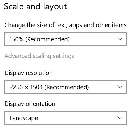 Surface Laptop Screen