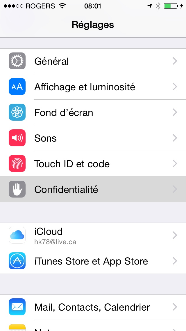 comment activer service localisation iphone 5