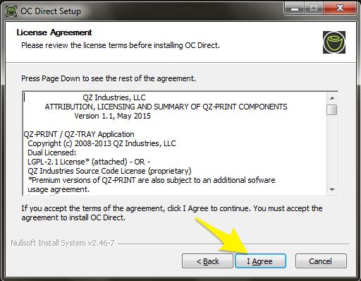 OC Direct 2 0 3 Installation Guide (Windows) : Customer Support Portal