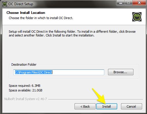 OC Direct 2 0 3 Installation Guide (Windows) : Customer