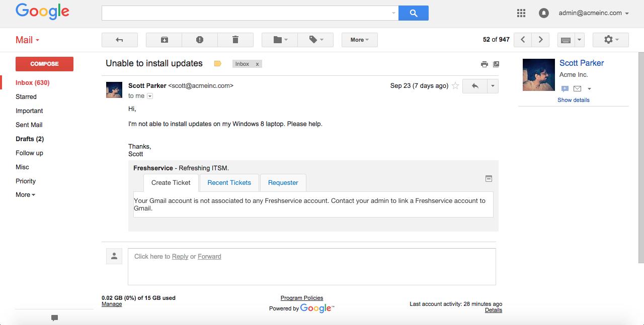 Using the Google Gadget integration in Freshservice : Freshservice
