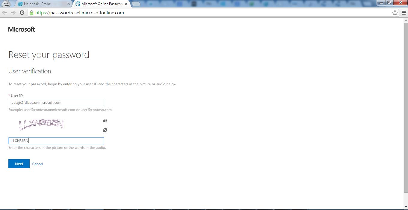Self Service Password Reset Using Azure AD : freshservice